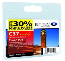 Remanufactured Canon PG37 Black Ink Cartridge