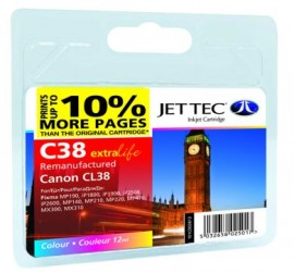 Remanufactured Canon CL38 Colour Ink Cartridge