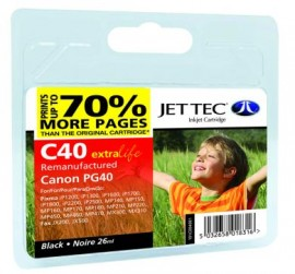 Remanufactured Canon CL 40 Black Ink Cartridge