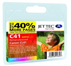 Remanufactured Canon CL41 Colour Ink Cartridge