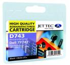 Remanufactured Black Ink Cartridge Dell  7Y743 (D743)