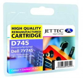 Remanufactured Colour Ink Cartridge Dell 7Y745 (D745)