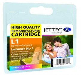 Remanufactured Lexmark Number 1 Ink Cartridge Black & Colour