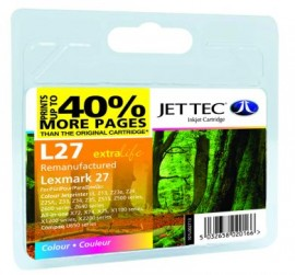 Remanufactured Lexmark 27 Colour Ink Cartridge