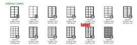 LASER / INKJET A4 LABELS 21 Labels per A4 Sheet Label Size 63.5mm x 38.1mm