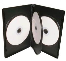 4-way Black DVD Storage Case