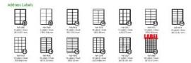 LASER / INKJET A4 LABELS 65 Labels per A4 Sheet Label Size 38mm x 21mm