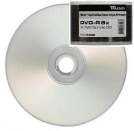 RITEK GO5 DVD-R 50PK FULL FACE PRINTABLE SILVER TOP