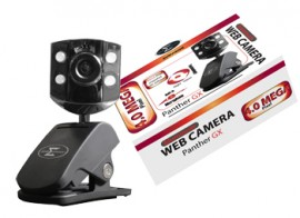 Sumvision Web Camera PANTHER GX 4 Mega Pixel with Built in Mic & Vista Ready