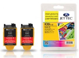 Kodak 30 Colour Twin pack - Jet Tec Remanufactured Inkjet Cartridge K30C