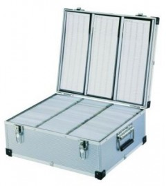 DJ 630 CD DVD ALUMINIUM STORAGE CASE & SLEEVES BOX