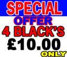 4 Blacks Epson Compatible Ink Cartridges suitable for C64-C66-C84-C86-CX3600-CX3650-CX4600-CX6400-CX6600